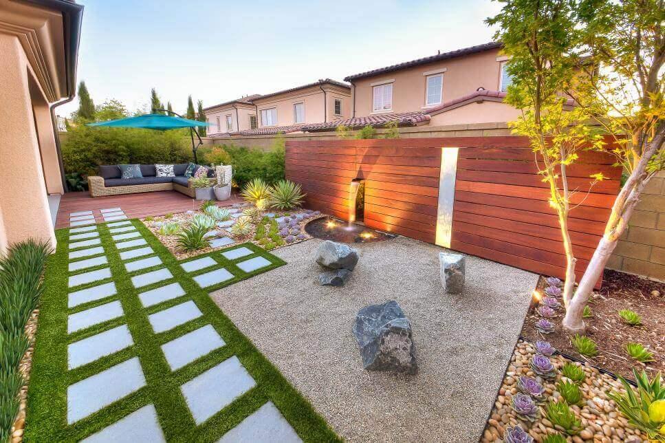 rock landscaping ideas backyard