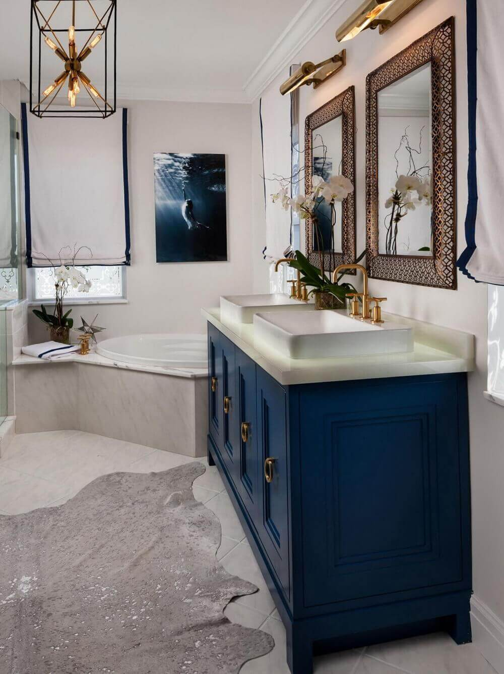 30 Most Navy Blue Bathroom Vanities You Shouldn't Miss ...