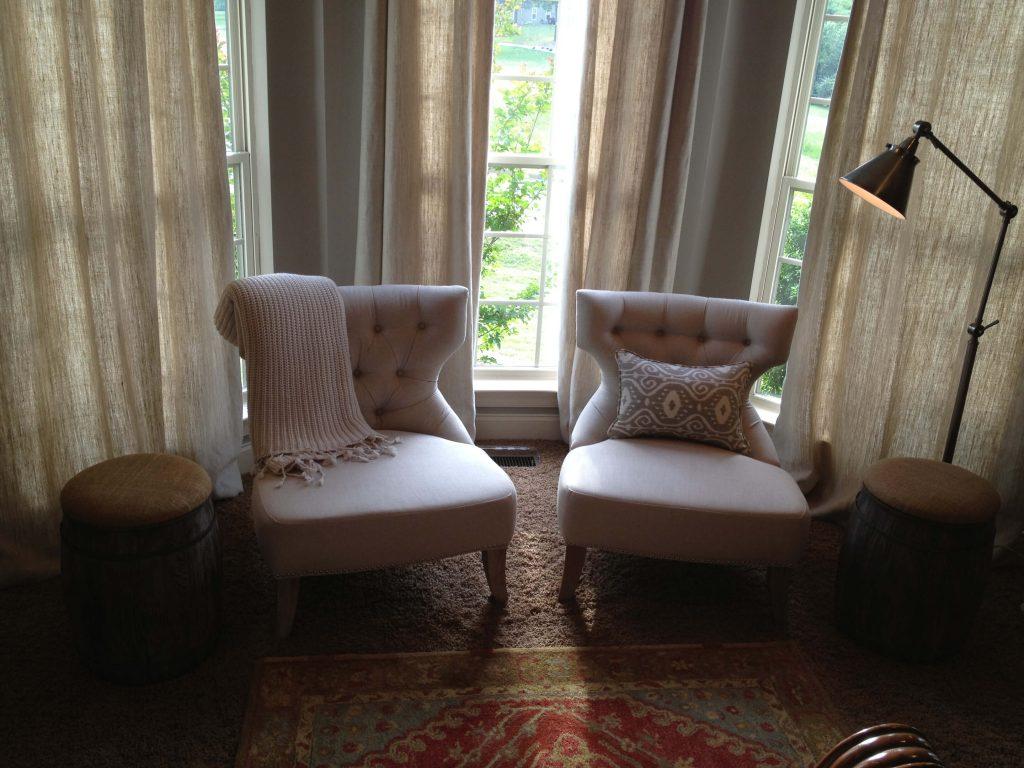 window sitting area