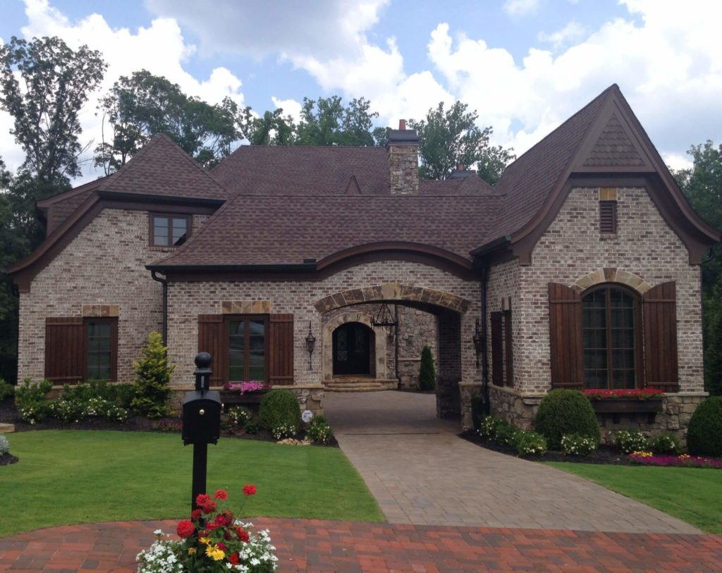 brick and stone homes
