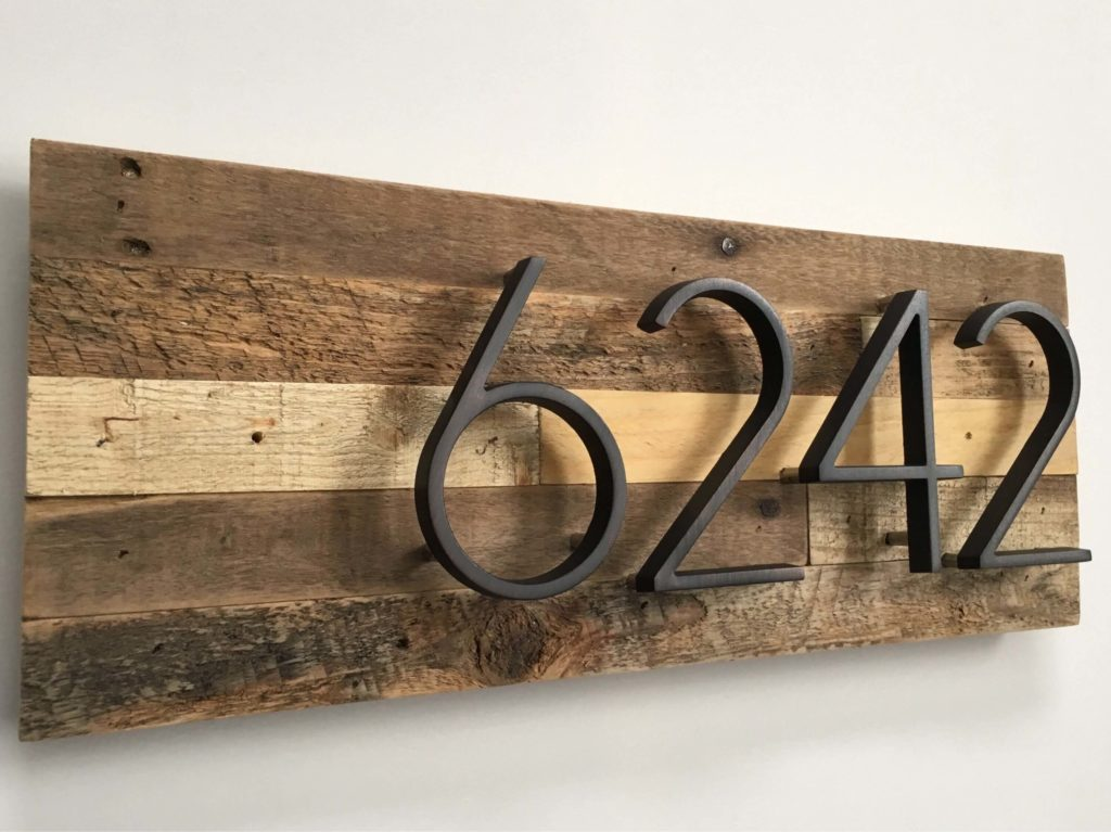 house number signs ideas