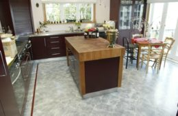cork floor tiles for kitchen