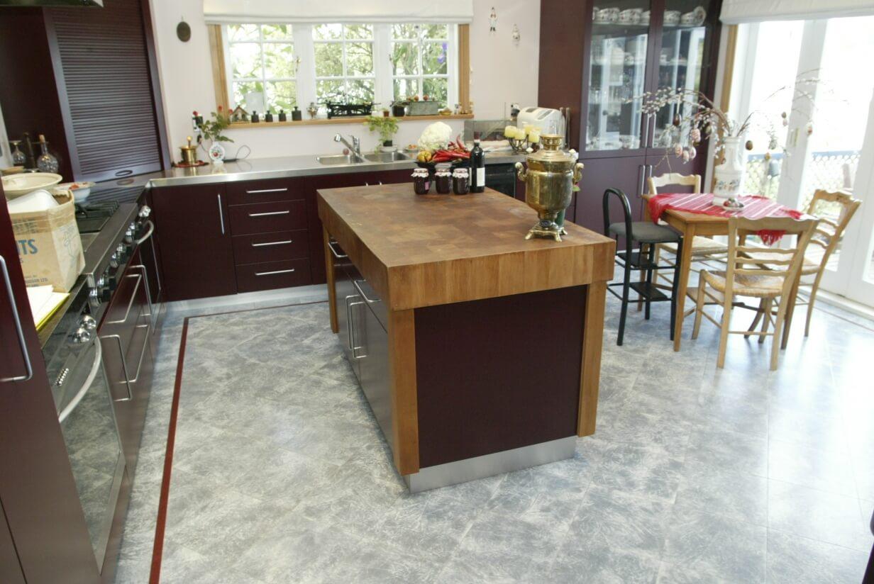 cork floor tiles for kitchen