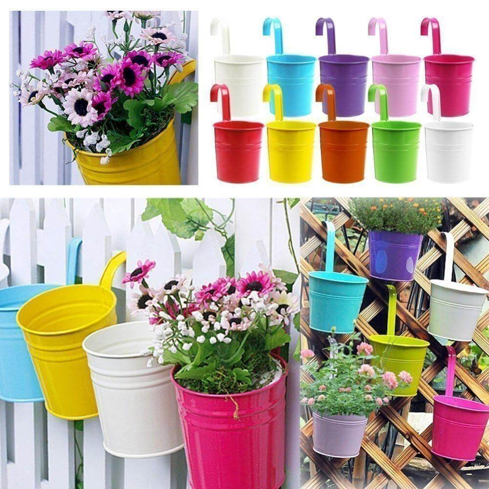 hanging flower pots for balcony