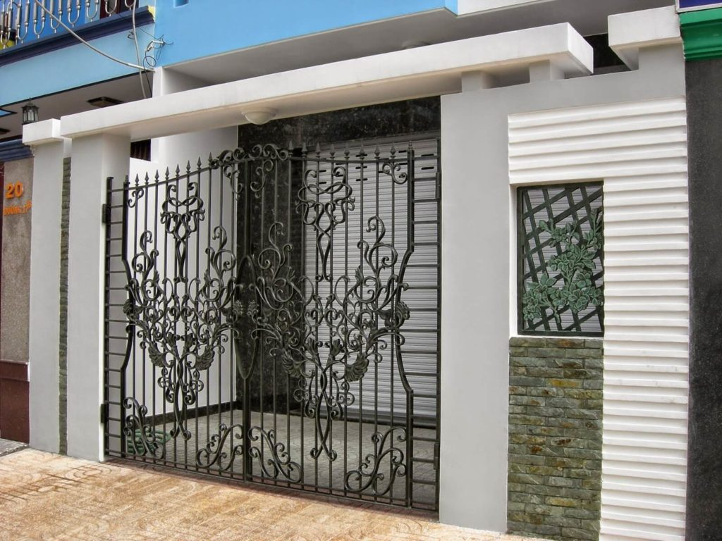 6 gate design for small house 1024x768 - 20+ Small House Gate Design Images PNG