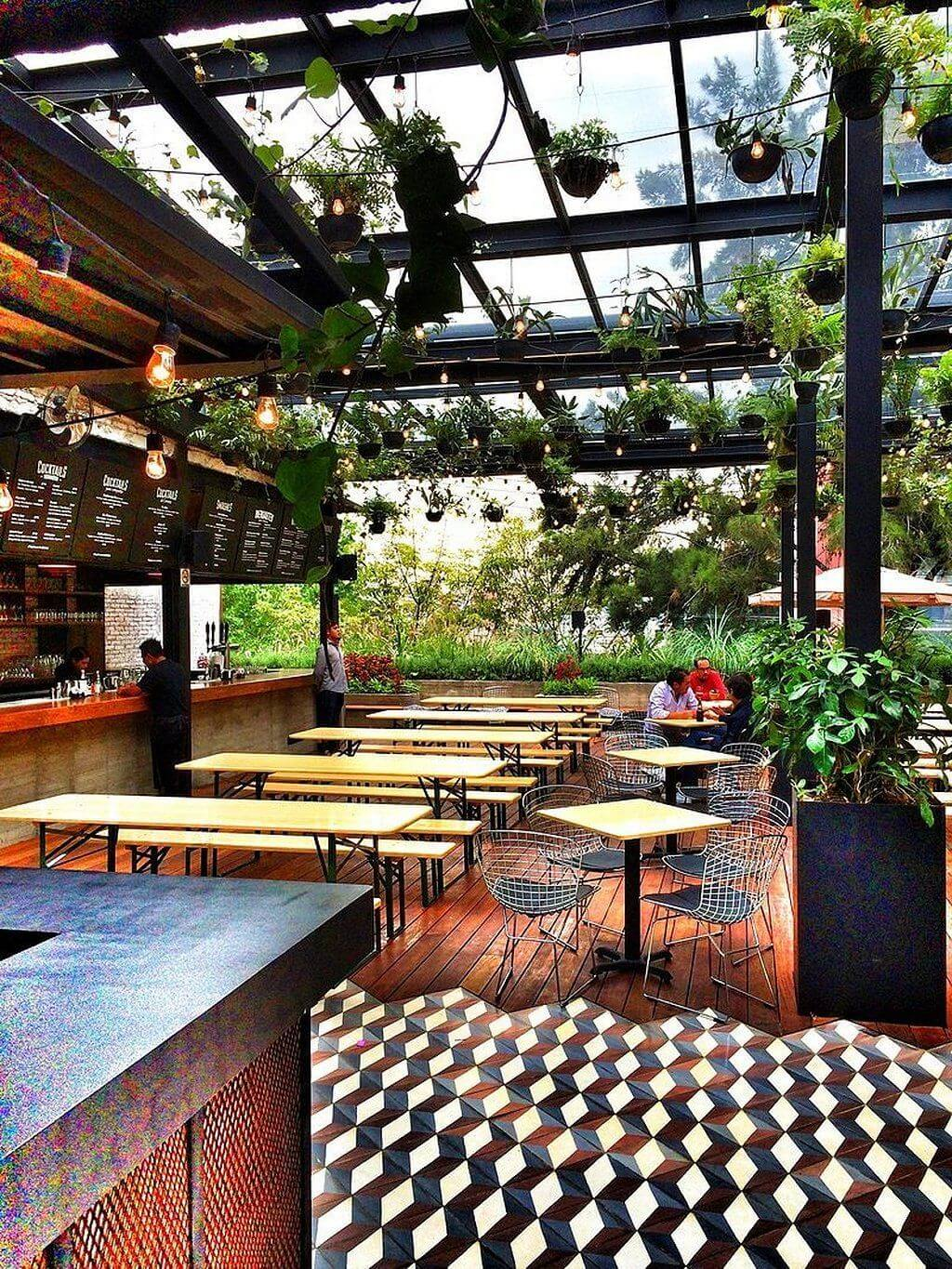 garden restaurant design ideas