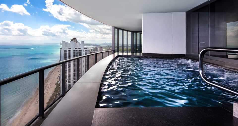 rooftop swimming pool designs