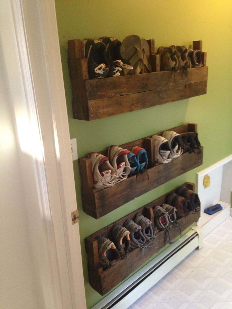 Pallets shelves and racks for home