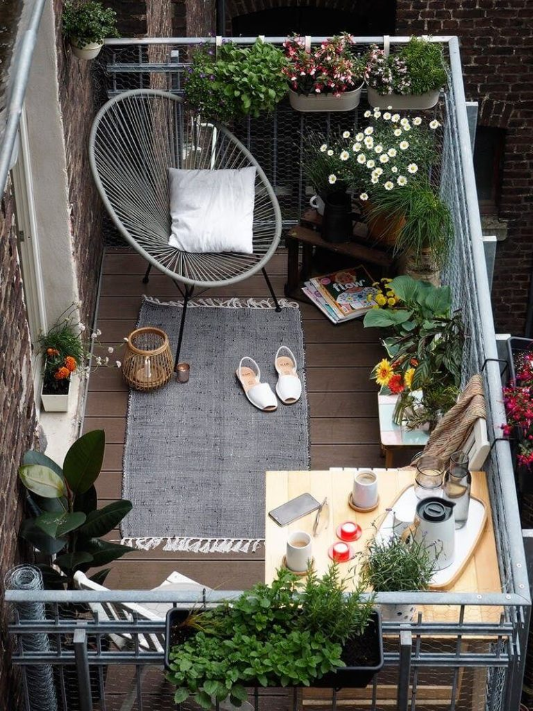 Balcony storage ideas