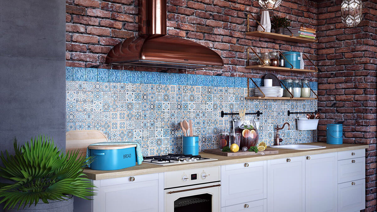 colorful boho chic kitchen designs
