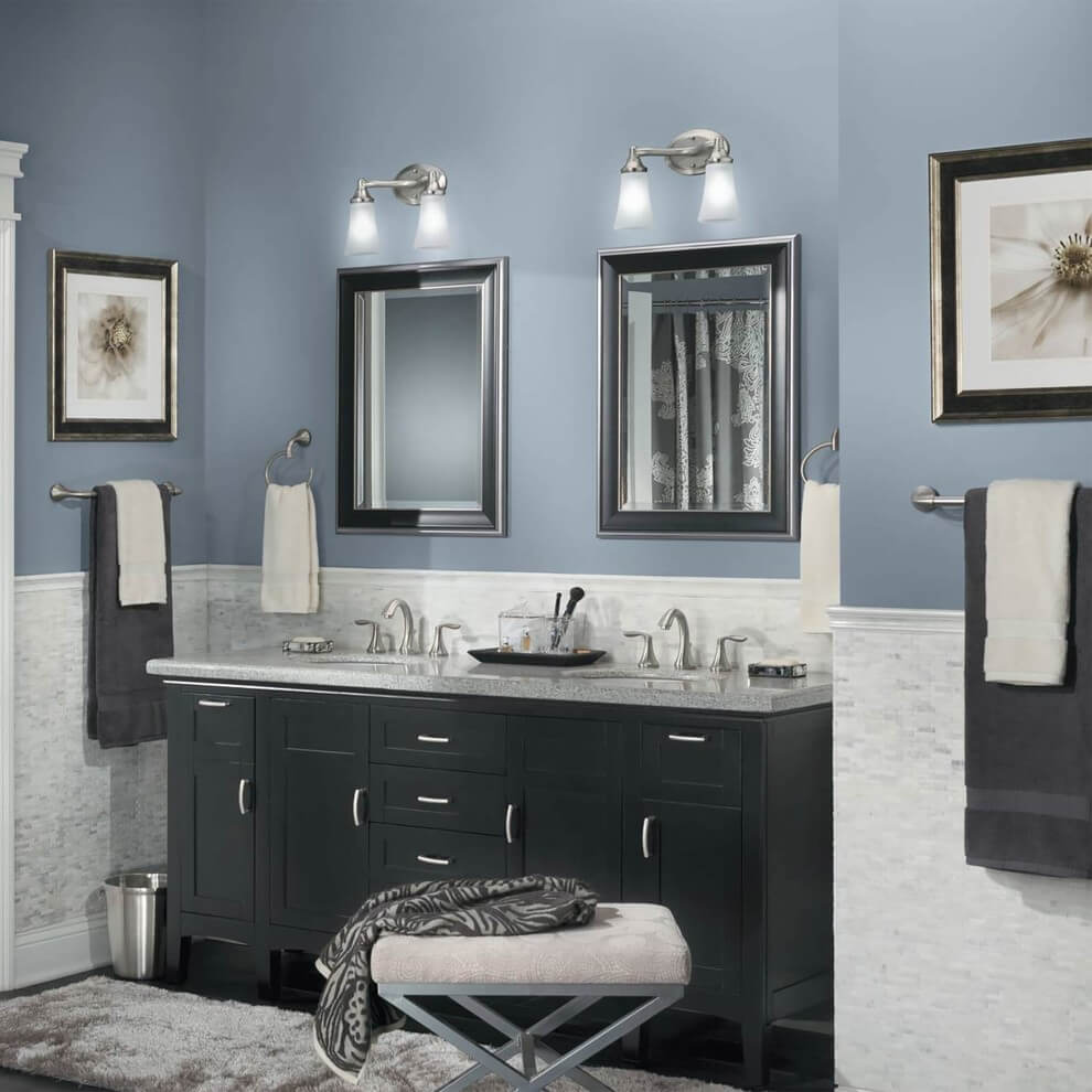 captivating what color paint grey tiles bathroom | 25+ Best Bathroom Paint Colors Favorite in 2019