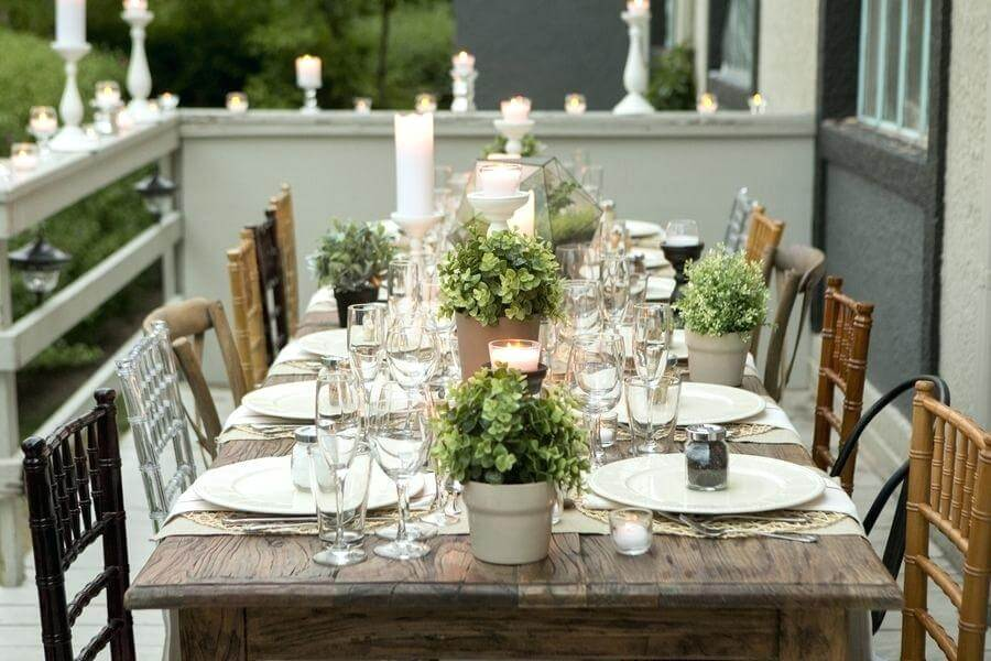 dinner party table settings