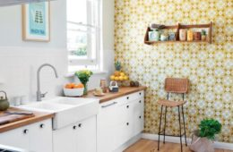 modern wallpaper designs for kitchens