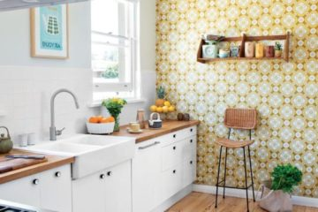 modern wallpaper designs for kitchens