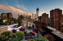 modern roof garden design