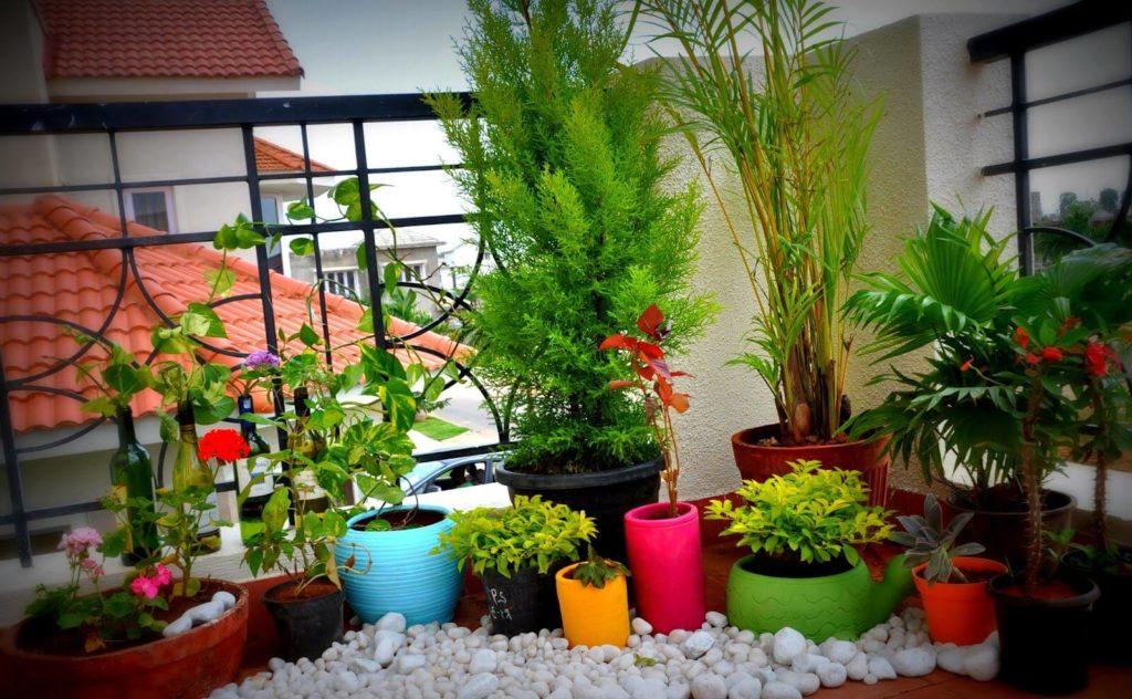apartment balcony garden decorating ideas