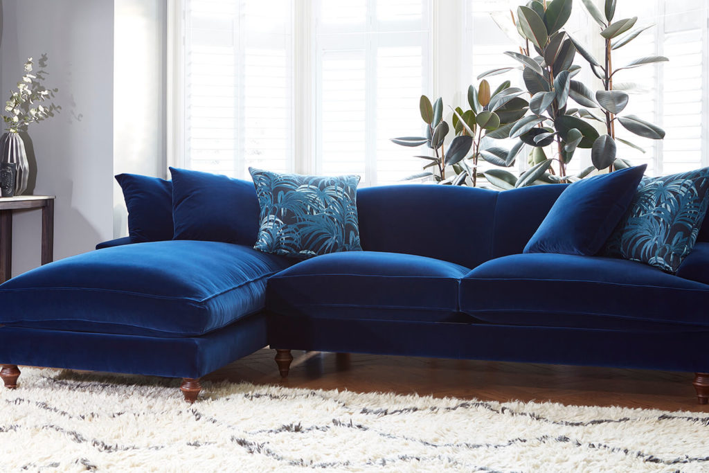 velvet sofa design ideas