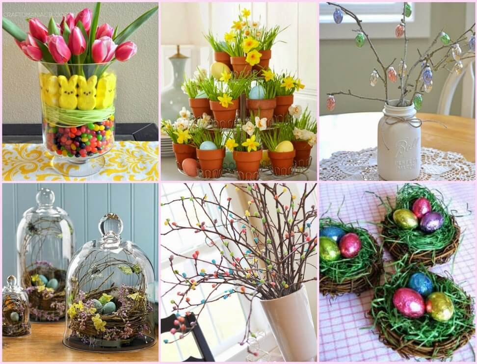 DIY easter table decorations