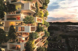 multi-family housing complex in Albania
