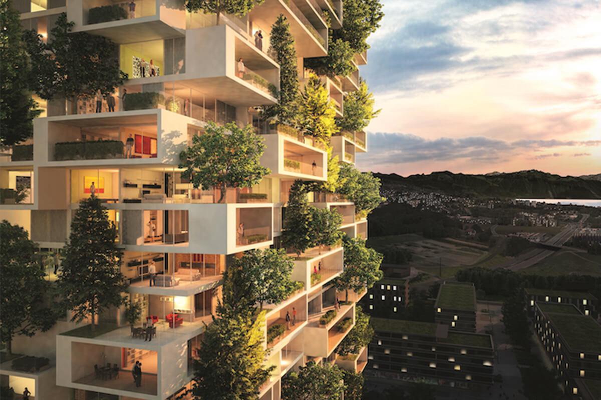 multi-family housing complex in Albania