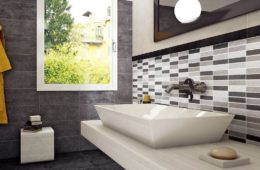 geometric bathroom tile ideas
