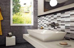 geometric bathroom tile ideas
