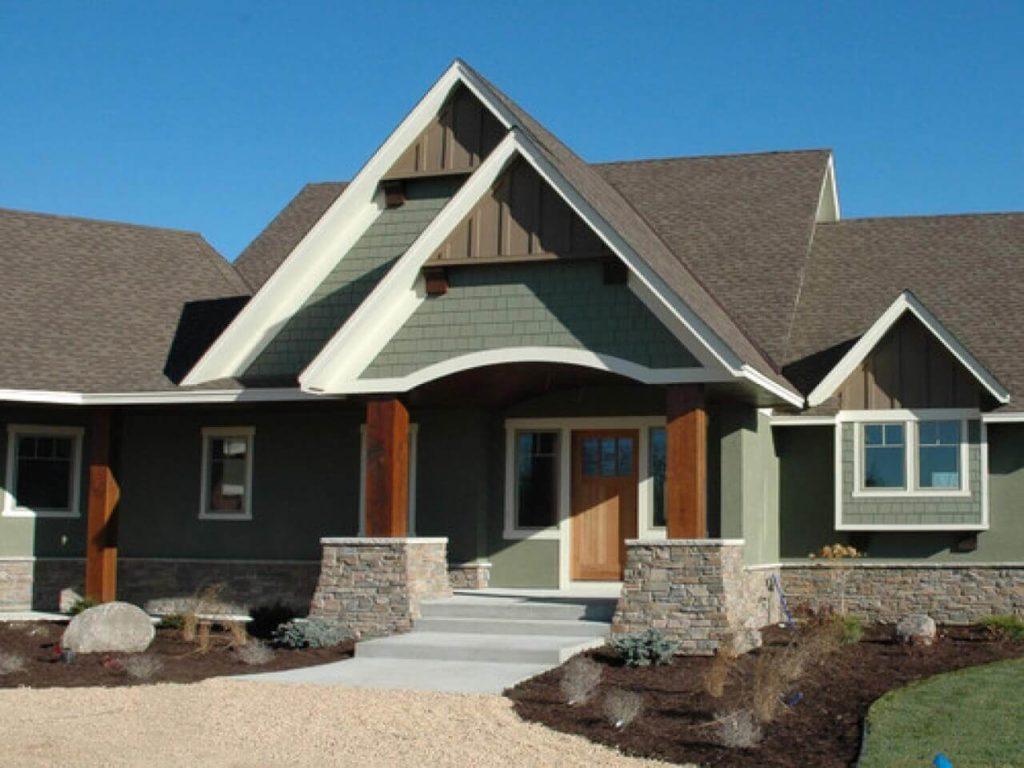 sage green house exterior