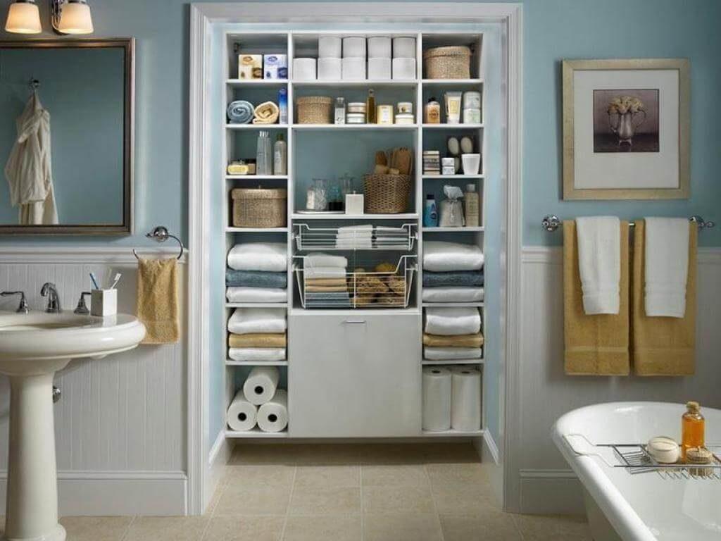 small bathroom shelf ideas