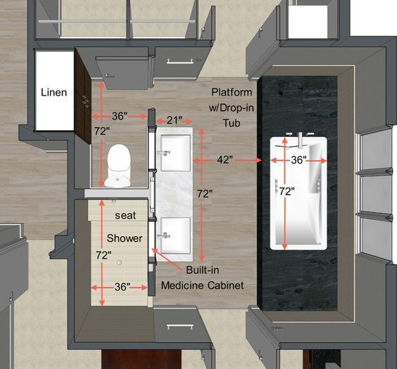 Small Power Room Dimensions 11