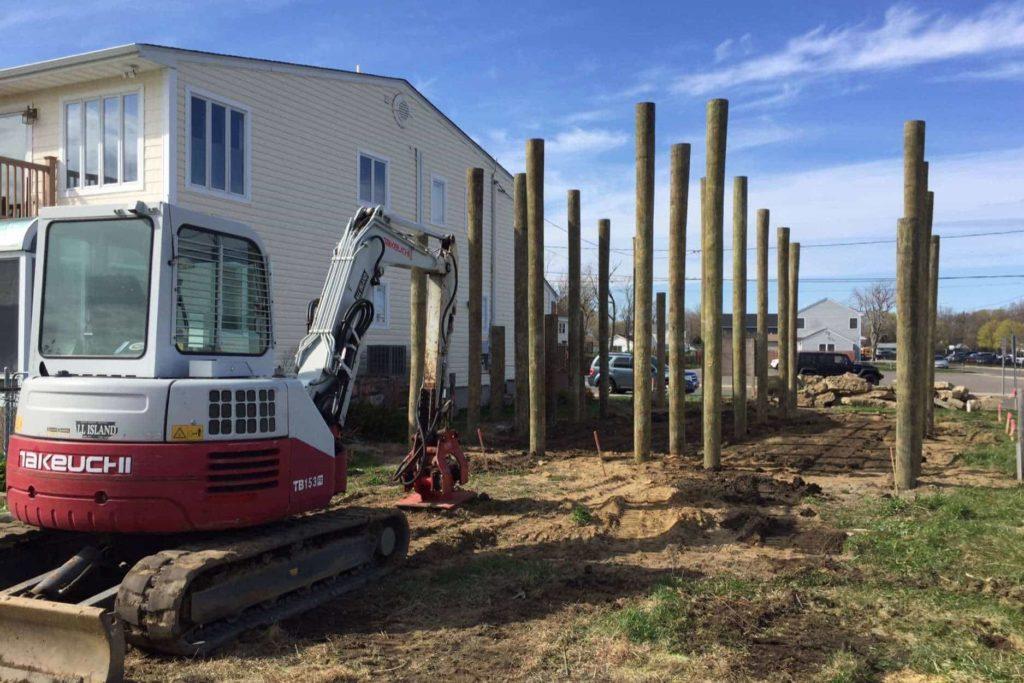 advantages & disadvantages of pile foundation - Timber Piles