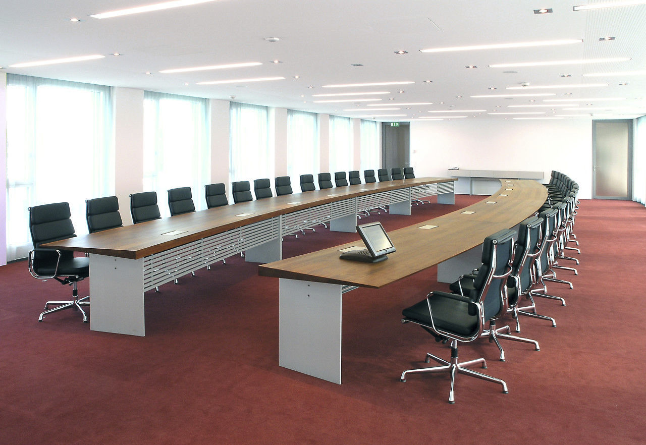 Conference table / contemporary / wooden / rectangular