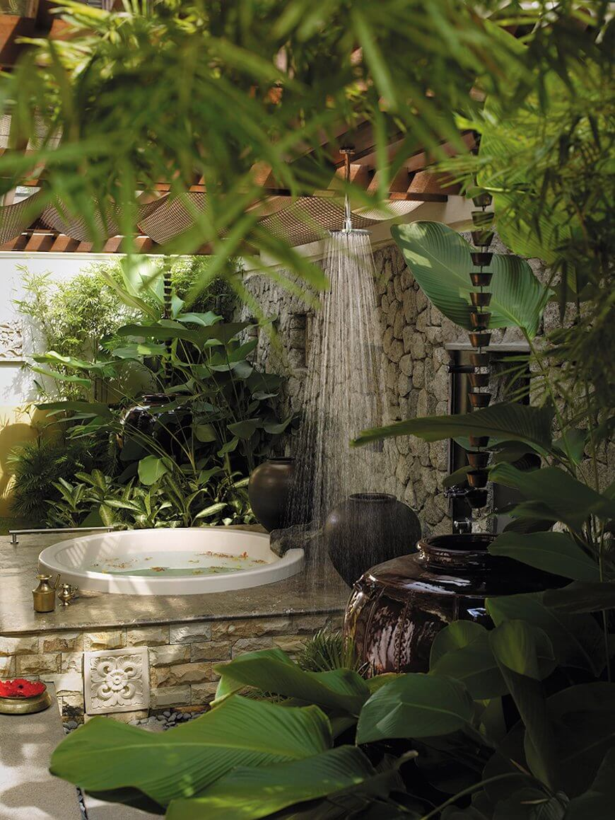 Tropical Bathroom Designs 17
