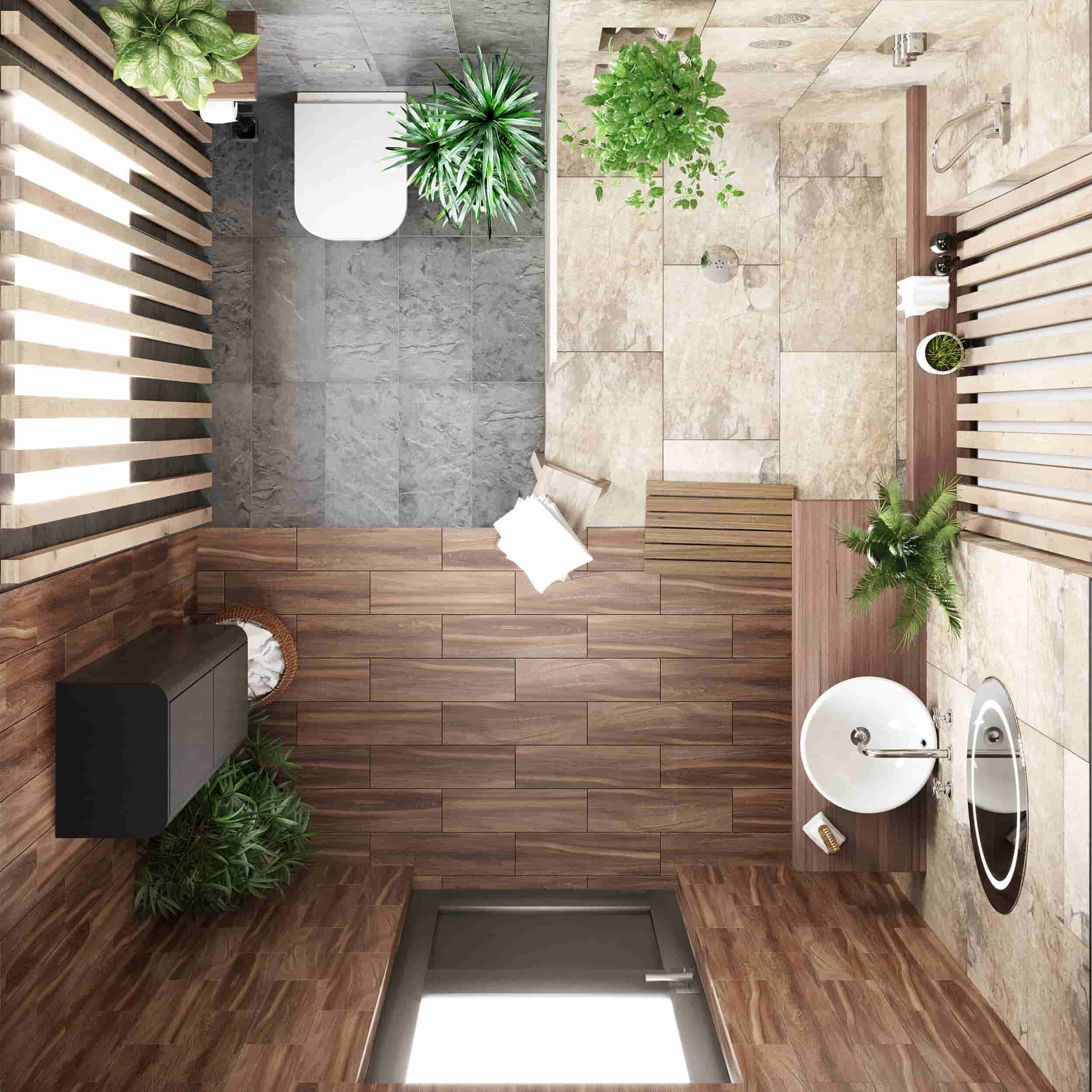 Tropical Bathroom Designs 4