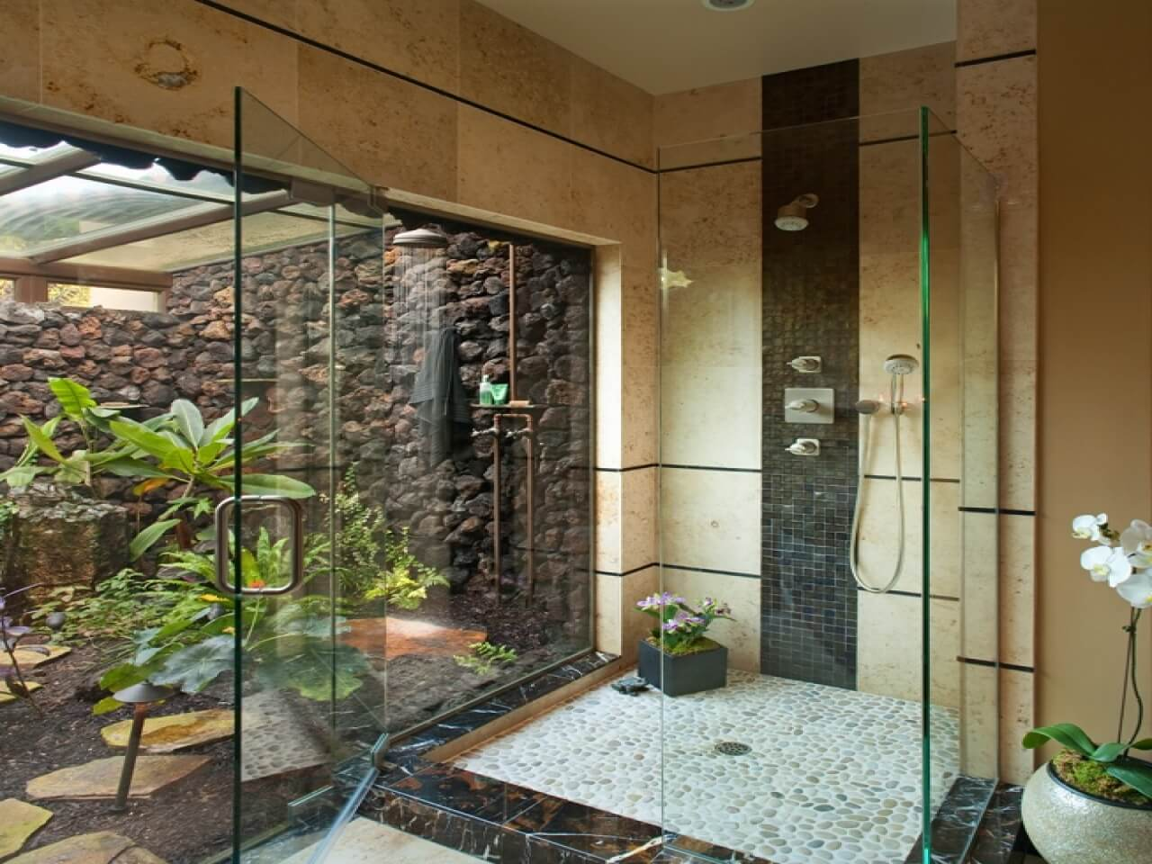 Tropical Bathroom Designs 7