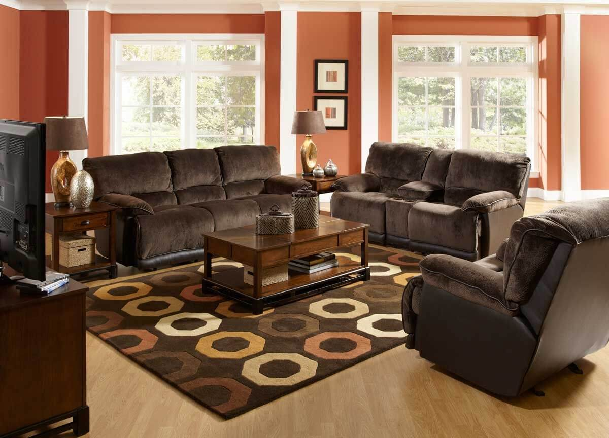 Living Room Decor With Dark Brown Couch Inspiring Ideas The Architecture Designs