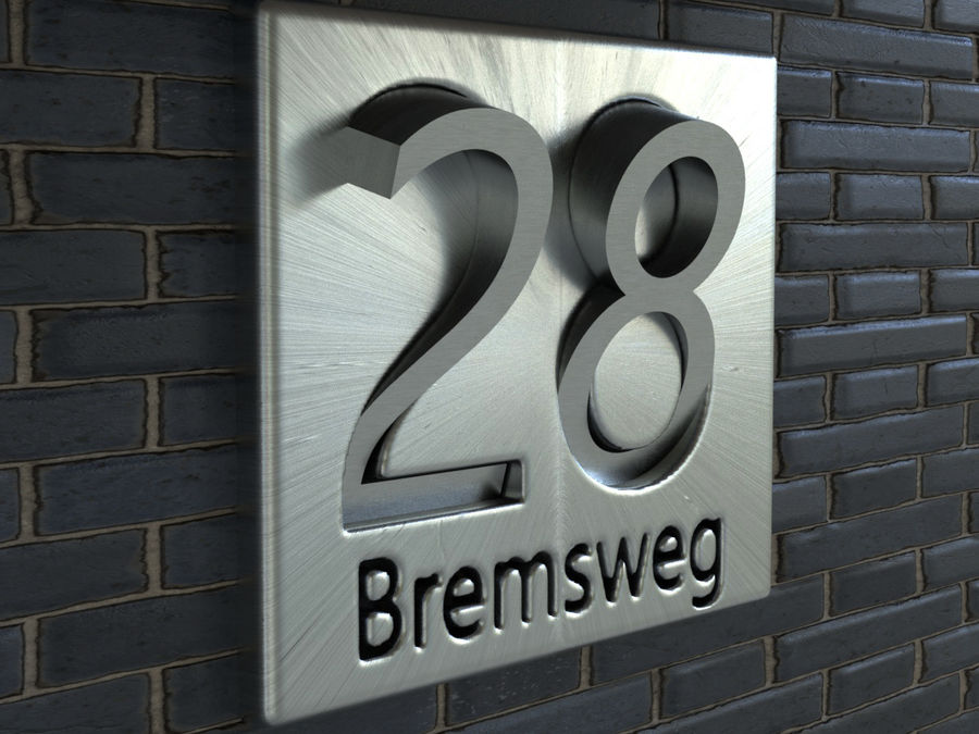 Name Plate For House 17