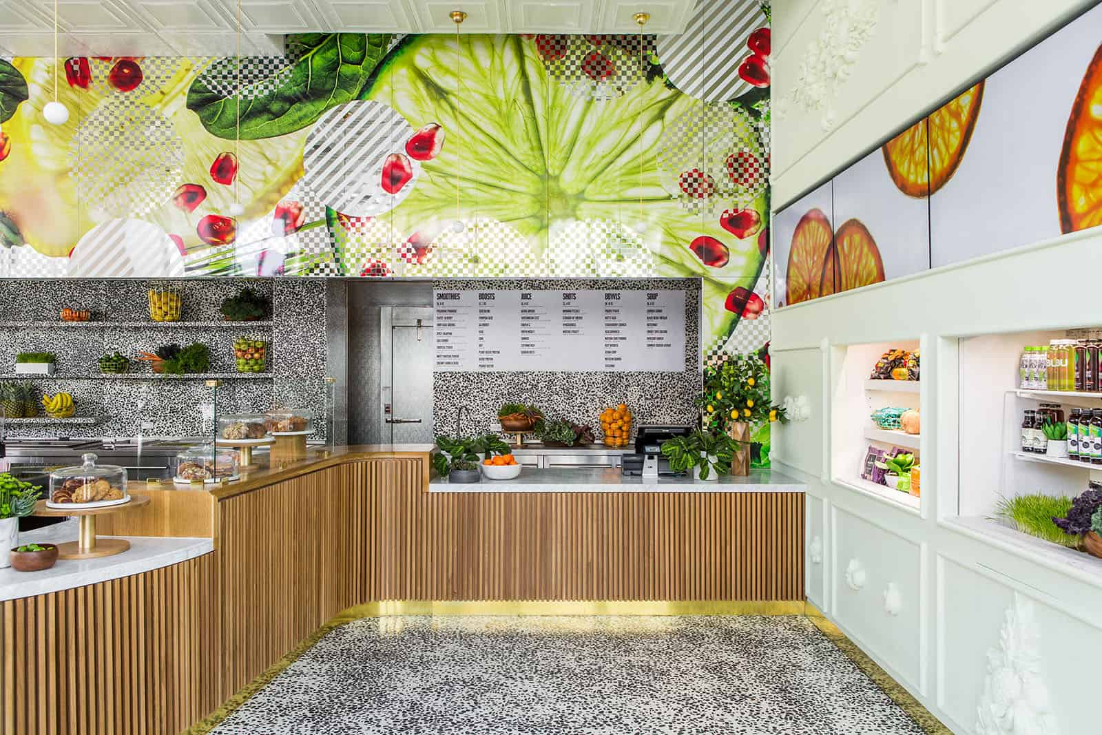 Interior Designs of Fruit Juice Shop