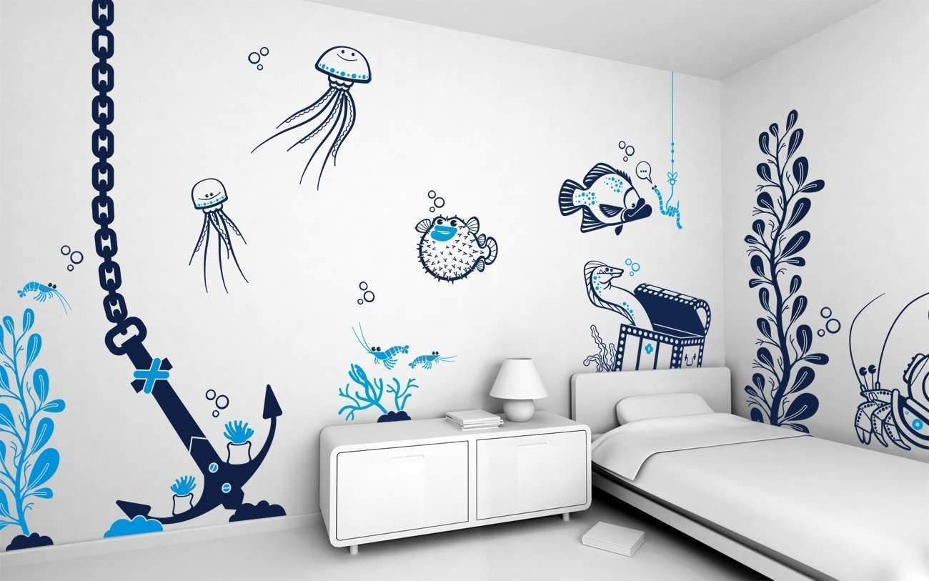 Cool Wall Painting Ideas Bedrooms Decoration Cool Wall Painting Idea For Amazing Room Impression