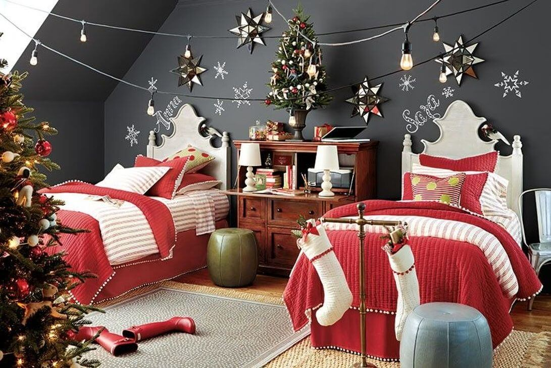 Christmas Bedroom Decoration