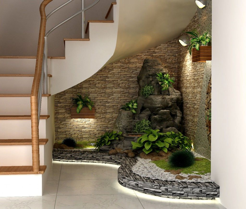 Indoor Garden Under Stairs