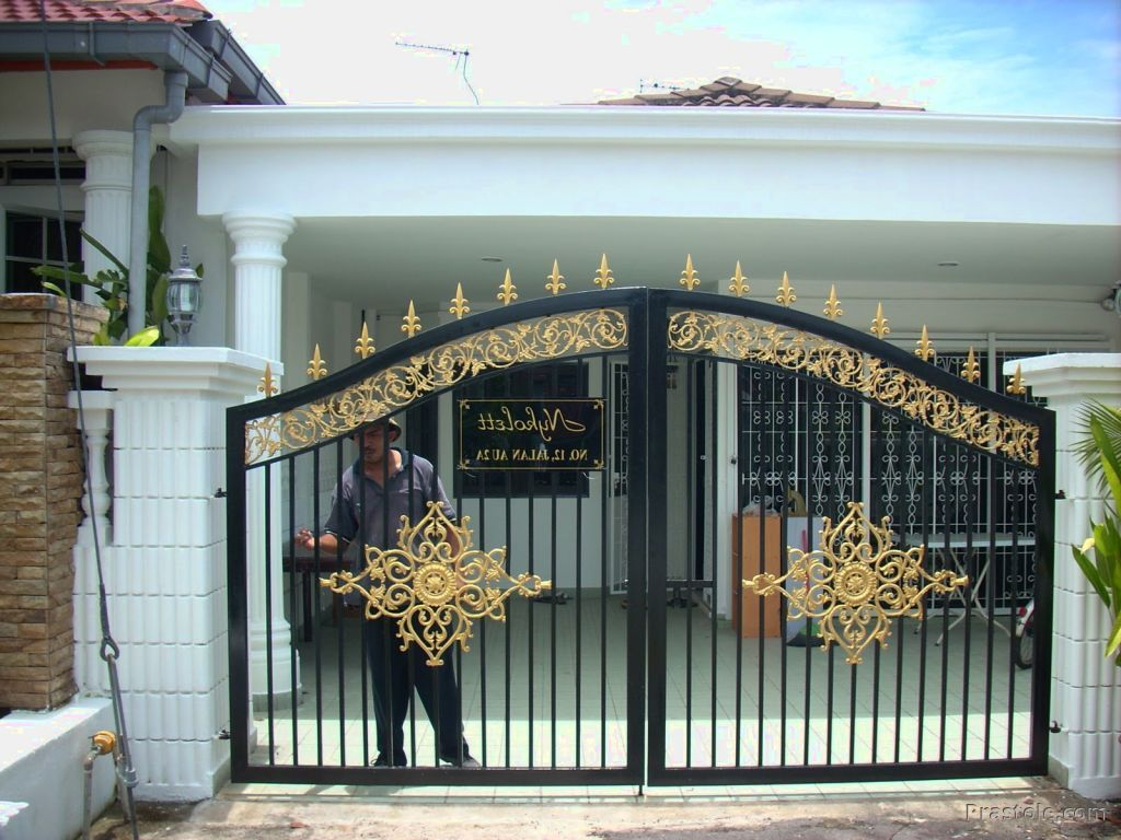 Front Gate1 - 13+ Small House Front Gate Design  Images