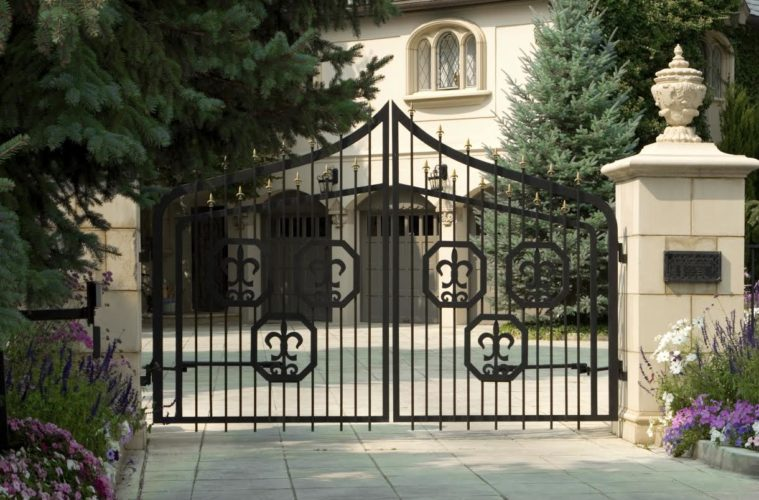 Front Gate12 759x500 - 13+ Small House Front Gate Design  Images