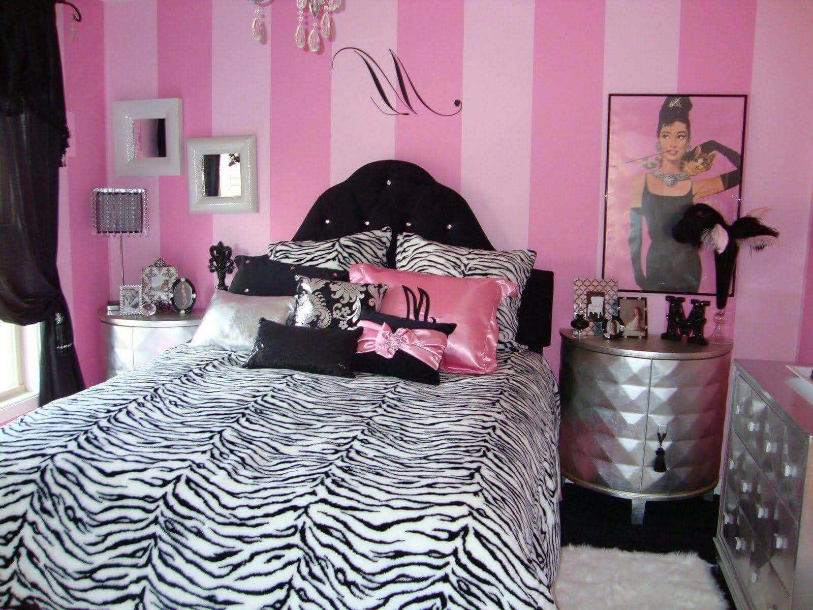 Teenage Zebra Bedroom Designs Ideas