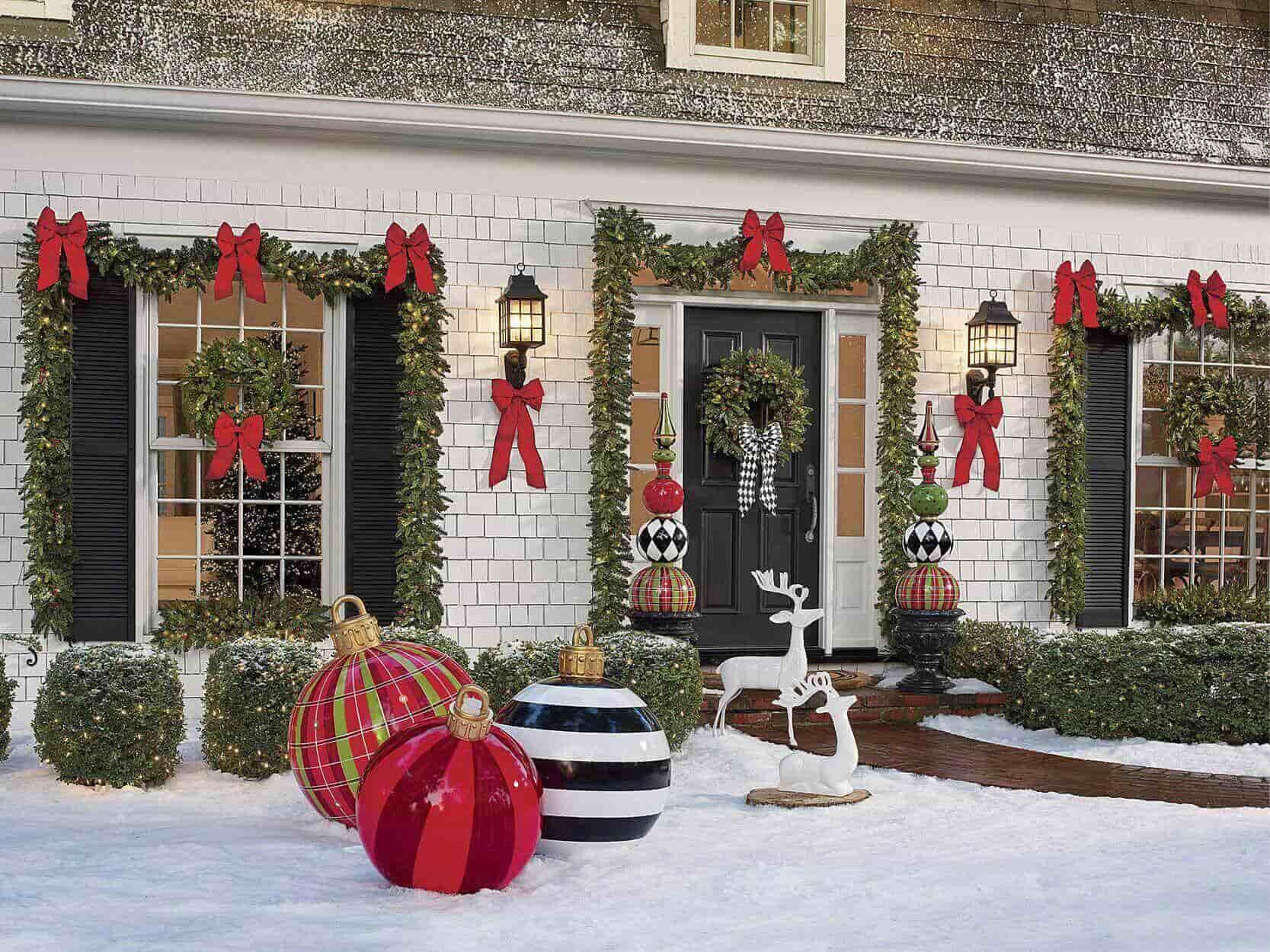 Front Porch Christmas Decoration Ideas