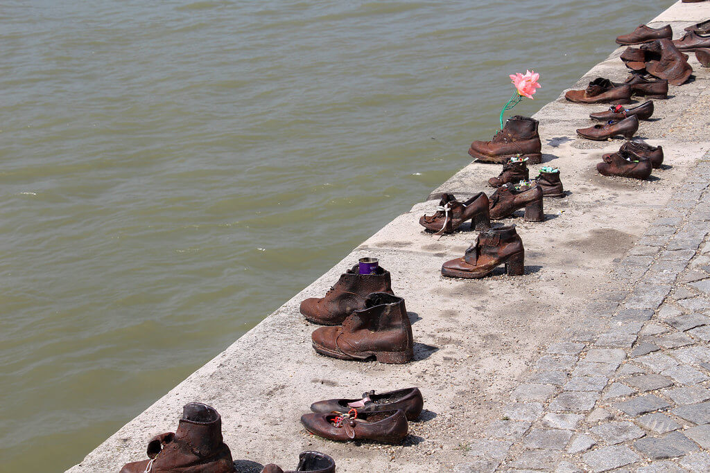 The Shoes On The Danube Bank by Can Togay & Gyula Pauer