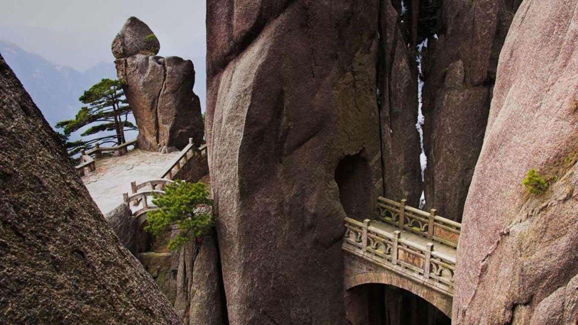 The Bridge of Immortals Huangshan, China
