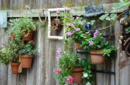 backyard fence decor