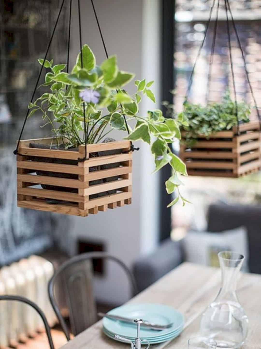 Unique and Creative Hanging Plant Decoration for Home ... on Hanging Plants Ideas  id=22829