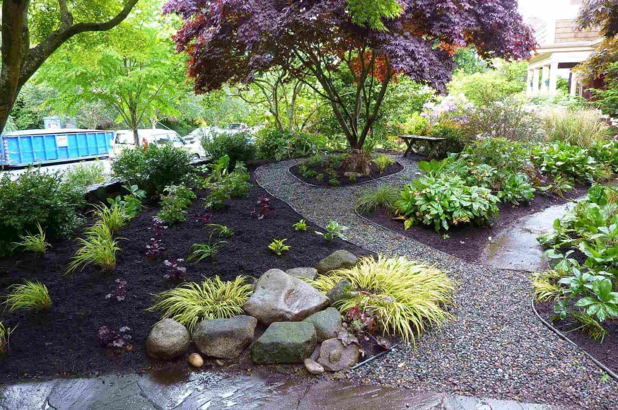 Inspiring And Well Organized Backyard Shade Garden