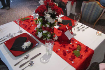valentine day table decoration
